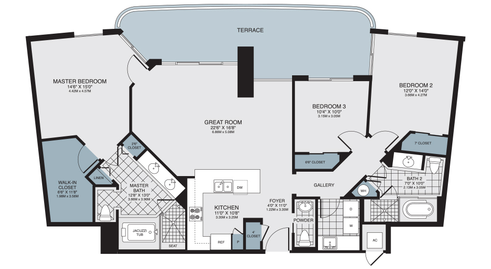 turnberry place floor plans
