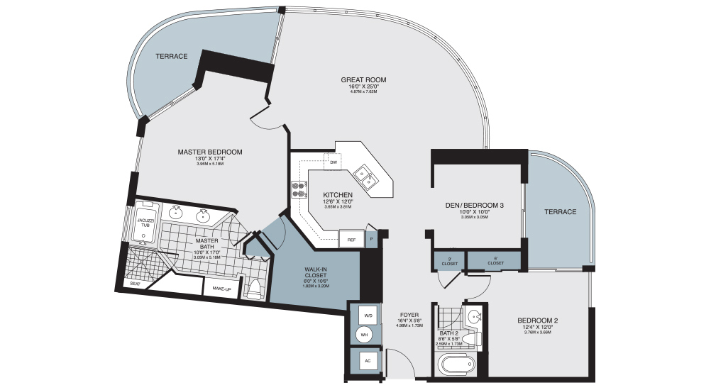 Turnberry Towers Floor Plans
